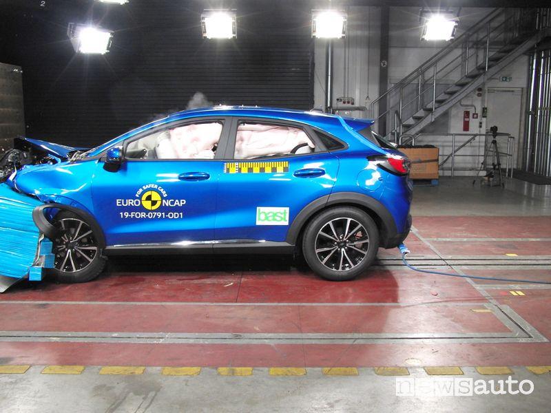 Urto frontale crash test Euro NCAP Ford Puma