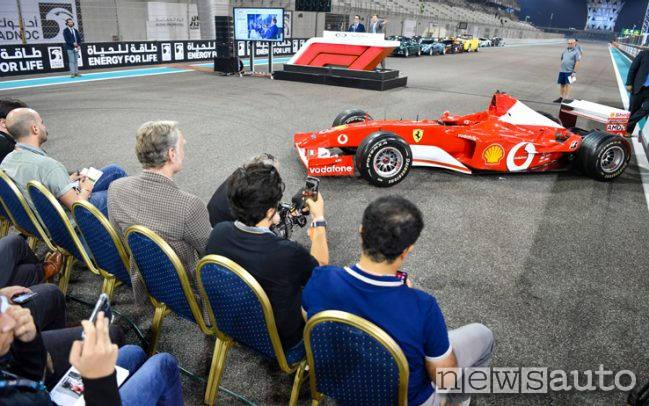 Il rettilineo del circuito di Abu Dhabi dove si è tenuta l'asta per la vendita della Ferrari F1 di Michael Schumacher