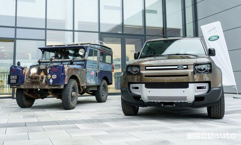 Land Rover Defender vecchia e nuova