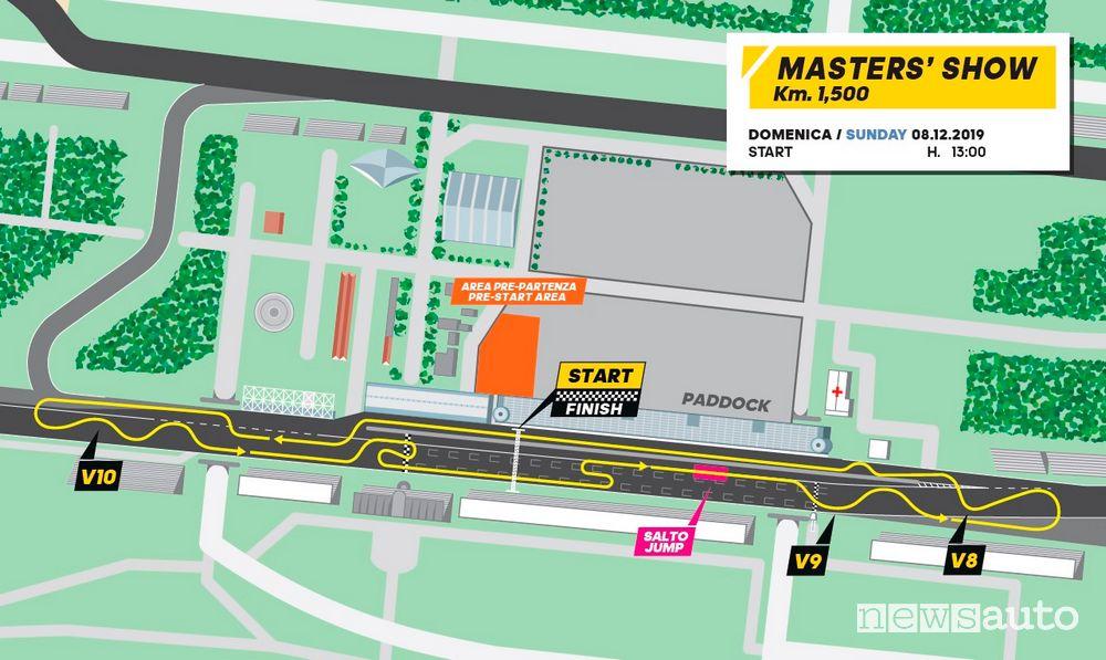 Mappa percorso Masters' Show al Monza Rally Show 2019
