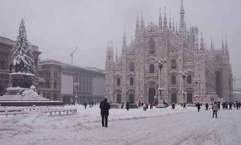 Lombardia Milano neve strade autostrade