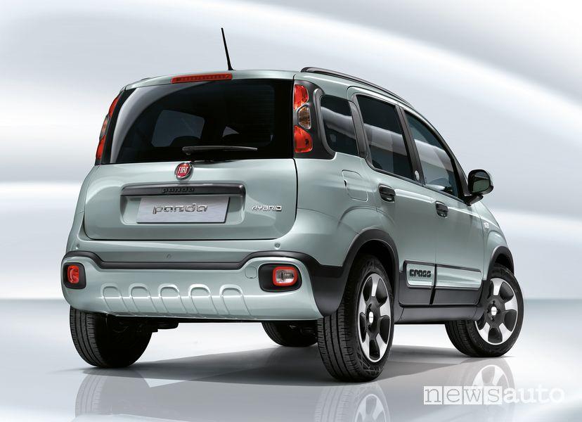 Vista posteriore Fiat Panda Hybrid Launch Edition