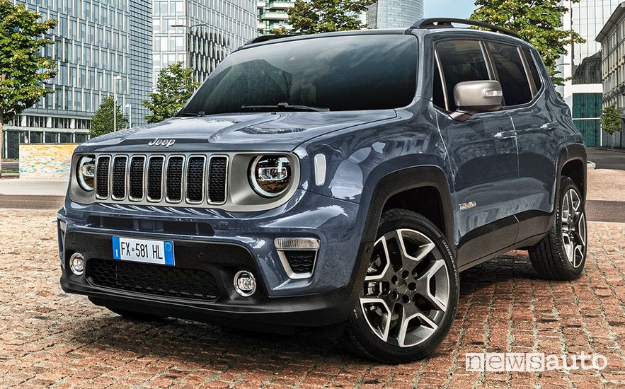 Vista di profilo Jeep Renegade 4xe ibrida plug-in First Edition