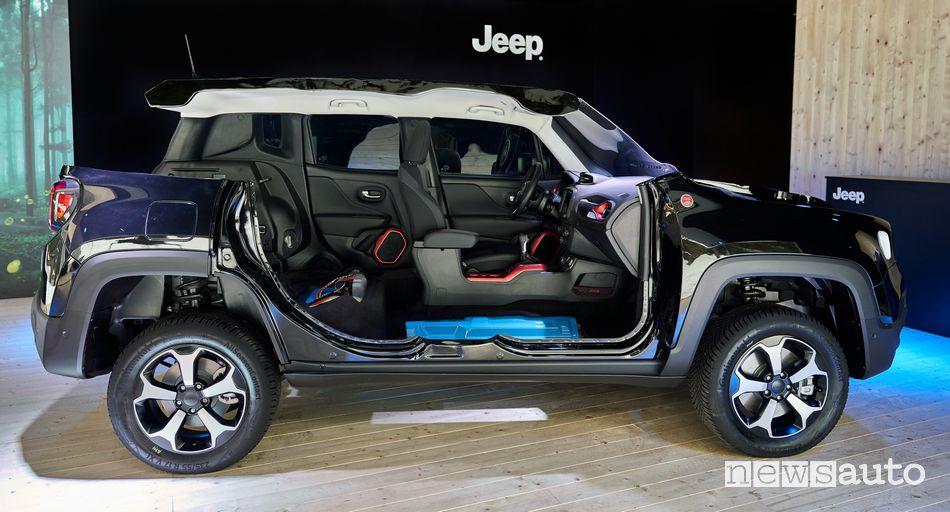 Le batterie sotto il pianale della Jeep Renegade 4xe ibrida plug-in