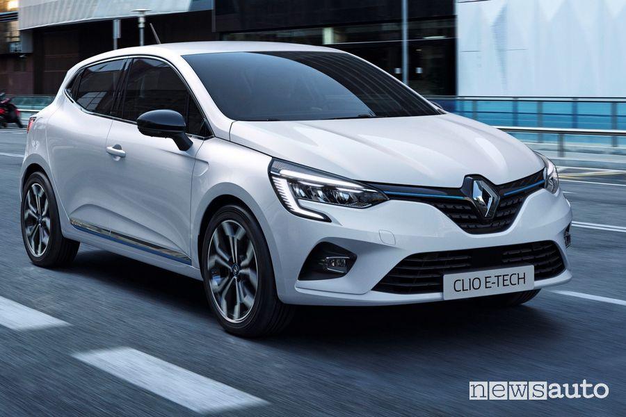 Vista di profilo Renault Clio E-TECH