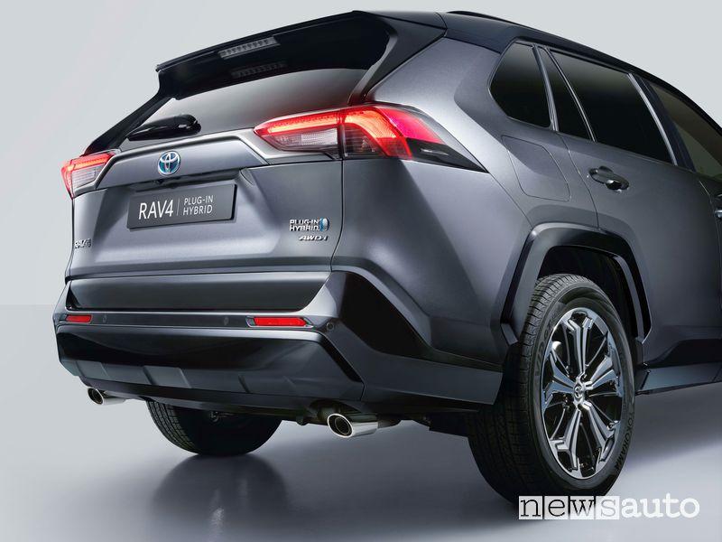 Scarico, paraurti posteriore Toyota Rav4 Hybrid Plug-In