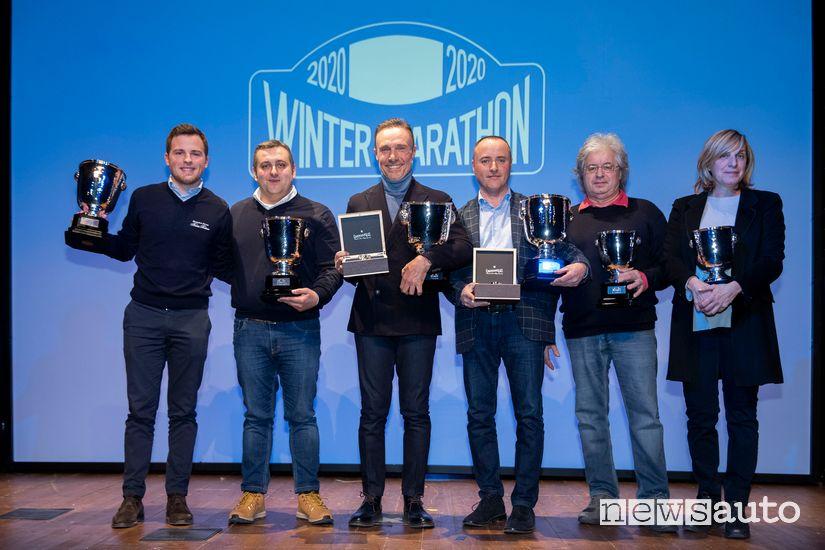 Vincitori Winter Marathon 2020, primi 3 equipaggi