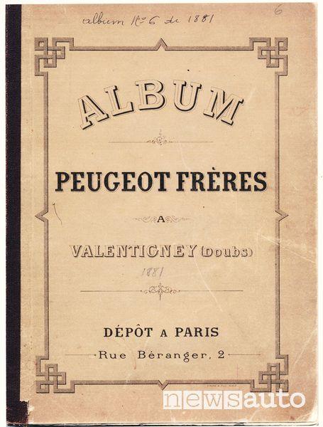 copertina album aziende peugeot 1850