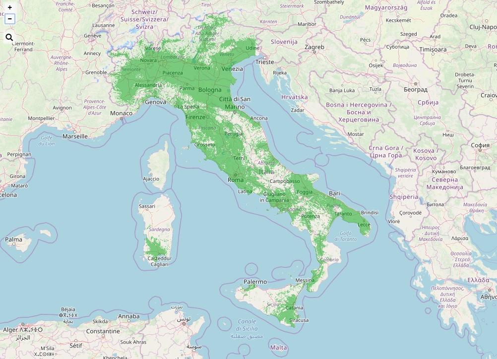 Mappa aggiornata copertura Radio DAB+ in Italia