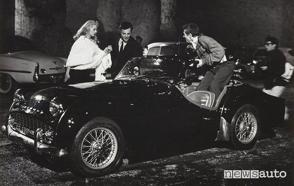 Triumph TR3 Dolce Vita di Federico Fellini