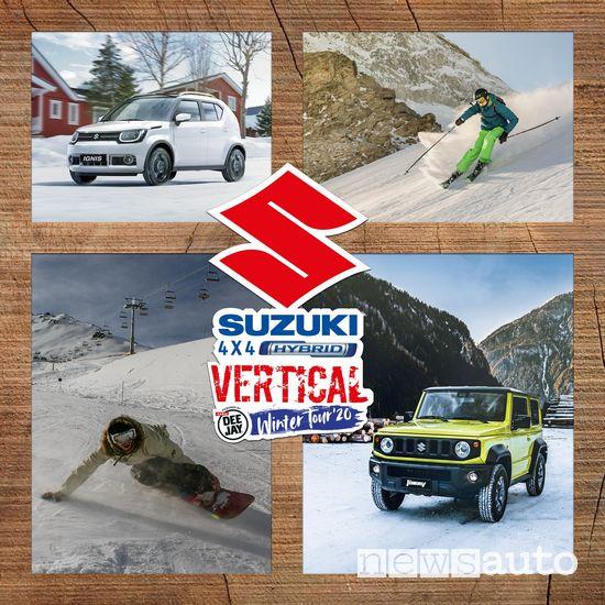 Locandina Suzuki 4x4 Hybrid Vertical Winter Tour 2020