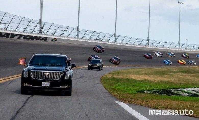 Donald Trump in pista alla 500 miglia di Daytona Nascar