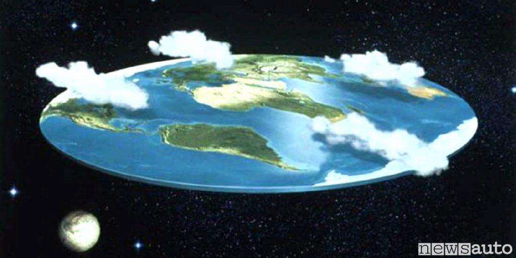 Una immagine della terra piatta, come la vedono i terrapiattisti.