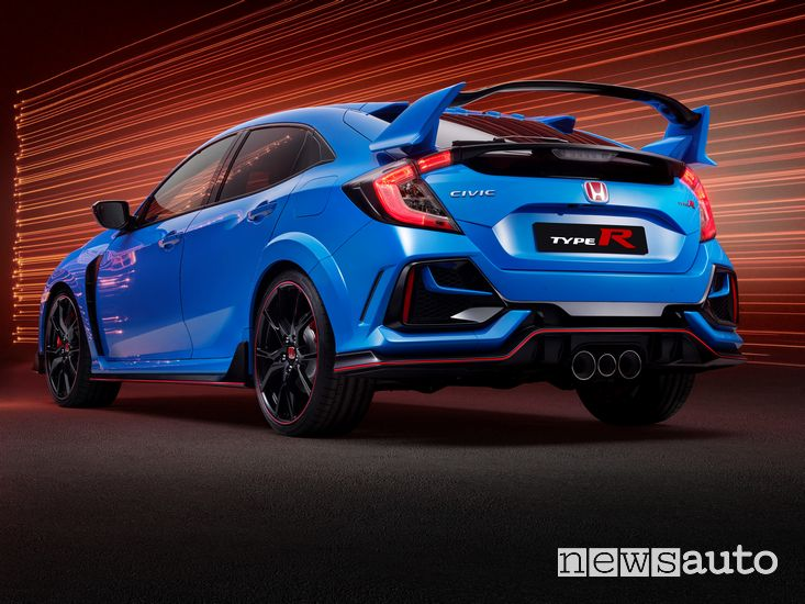 Vista posteriore Honda Civic Type R GT 2020