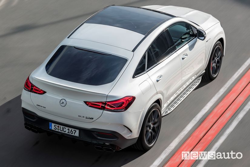 Vista posteriore Mercedes-AMG GLE 63 S 4MATIC+ Coupé