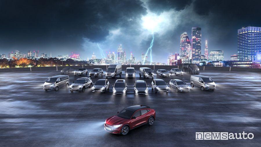 18 veicoli elettrificati Ford entro la fine del 2021