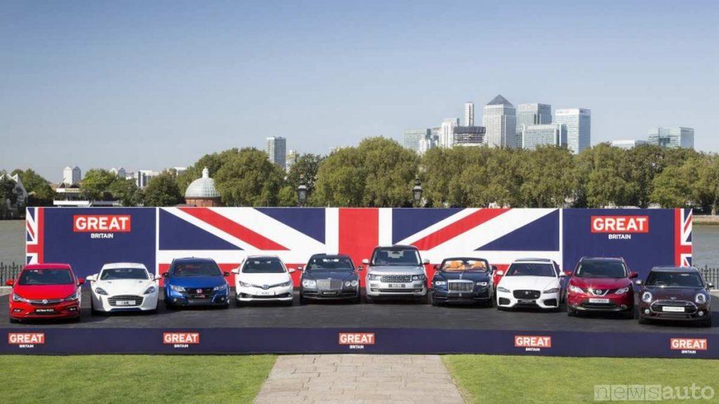 Costruttori d'auto presenti in Inghilterra con stabilimenti di produzione