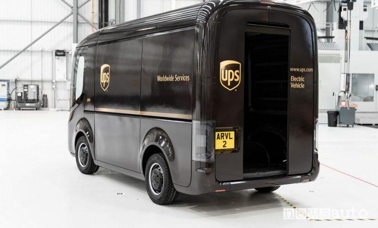 Furgoni elettrici UPS automatizzati