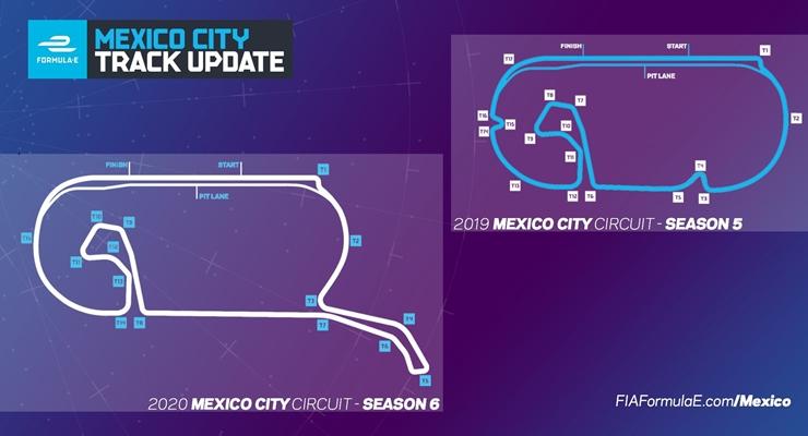 Layout circuito messico Hermanos Rodriguez Formula e orari eprix formula e 2020