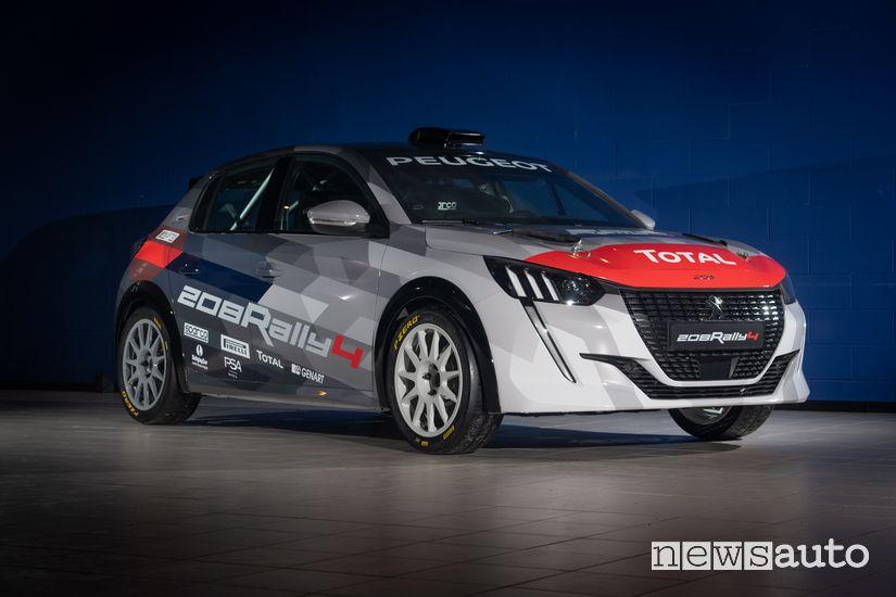 Vista di profilo Peugeot 208 Rally 4