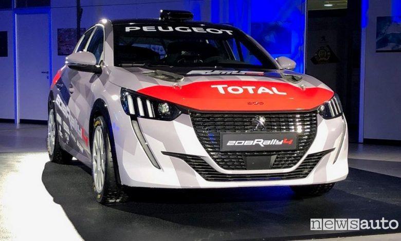 Vista anteriore Peugeot 208 Rally 4