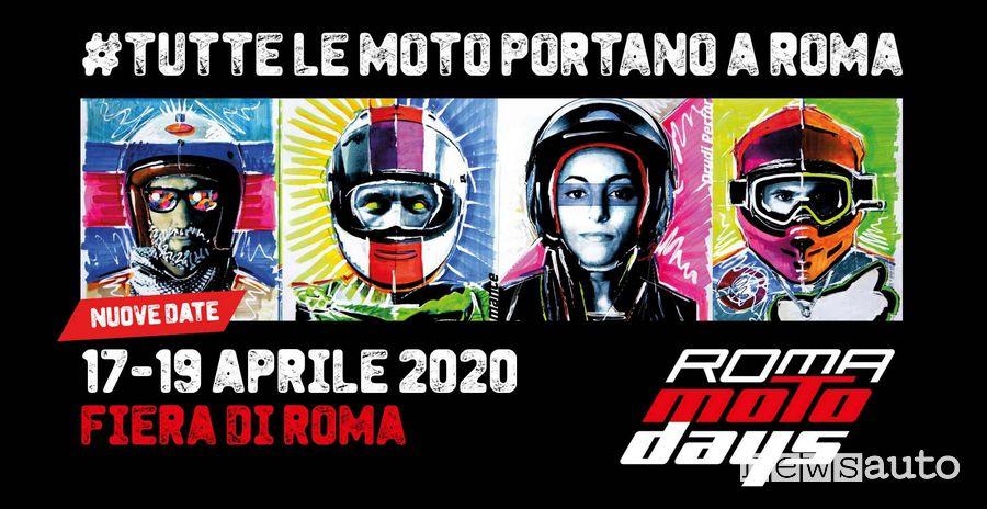 Locandina Roma Motodays dal 17 al 19 aprile 2020