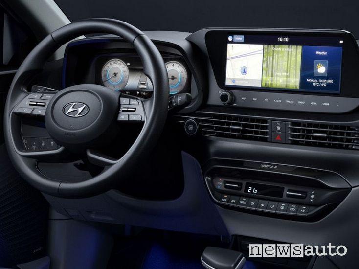 interni della Hyundai i20 2020