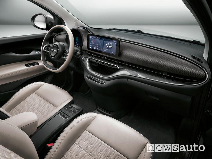 Plancia strumenti abitacolo Fiat 500 elettrica cabrio