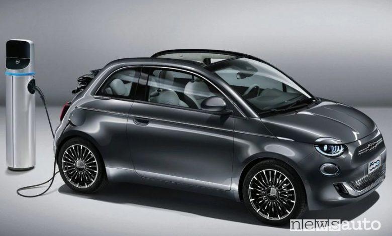 Ricarica Fiat 500 elettrica cabrio La Prima