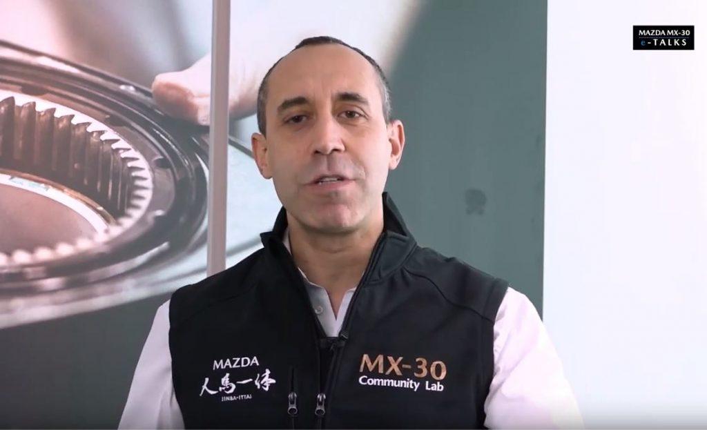 L'ingegnere Claudio di Benedetto di Mazda Motor Italia