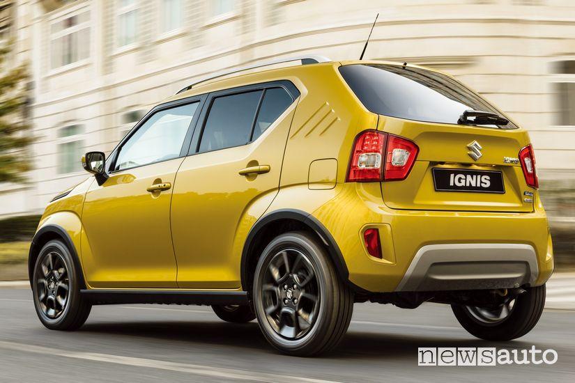 Vista posteriore Suzuki Ignis Hybrid 2020 Giallo Nepal