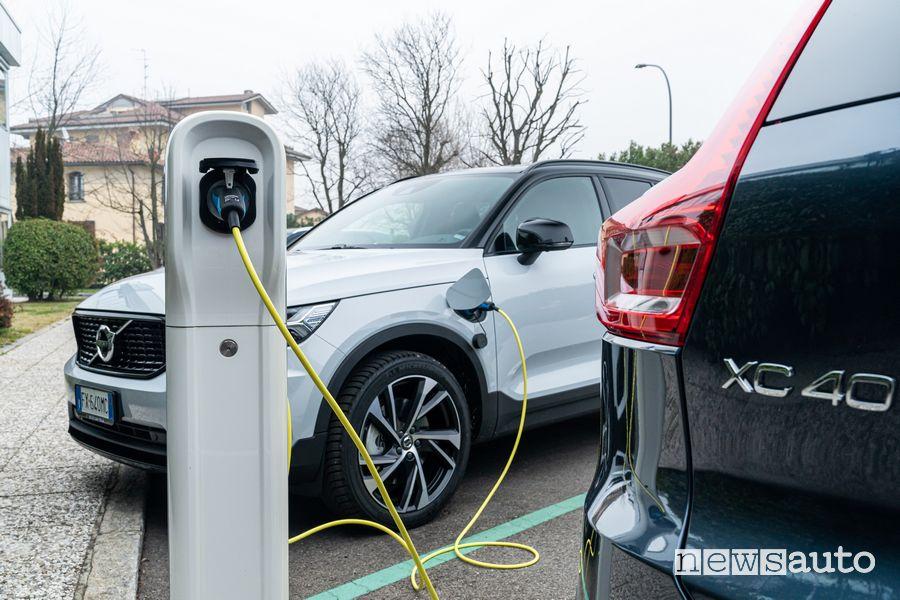 Ricarica da colonnina Volvo XC40 Recharge Inscription PHEV