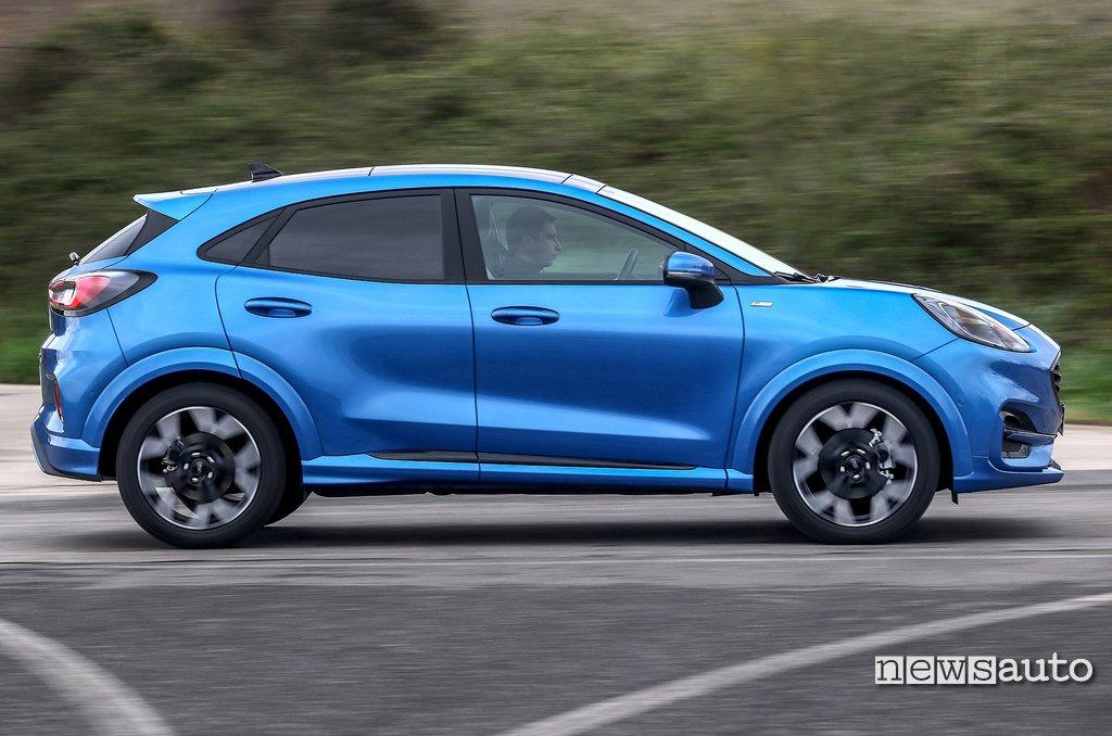 Ford Puma prova ADAS