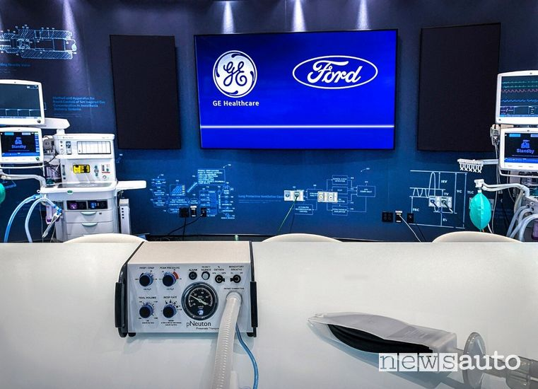 Ventilatori polmonari prodotti da Ford con la GE Healthcare