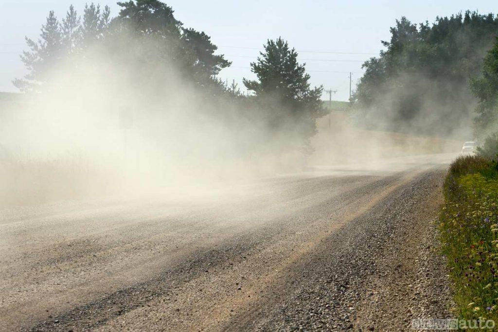La polvere proveniente dall'usura dell'asfalto è uno degli inquinanti nocivi dell'aria