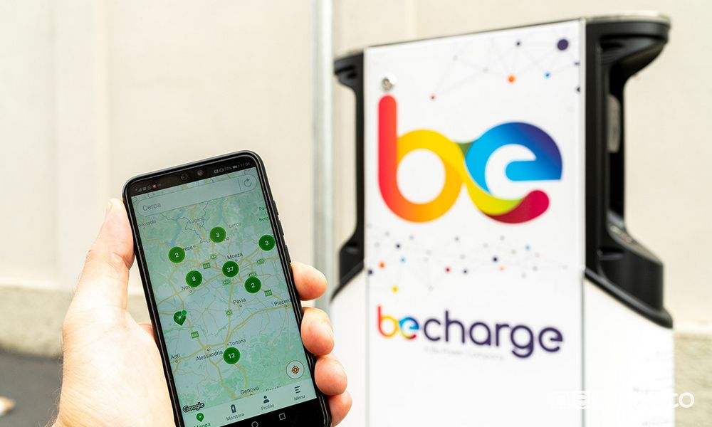 APP Be Charge ricarica auto elettriche