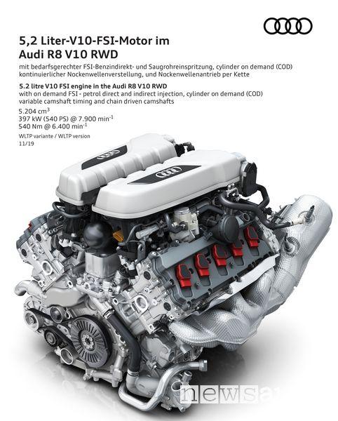 Motore V10 5.2 FSI Audi R8 V10 RWD