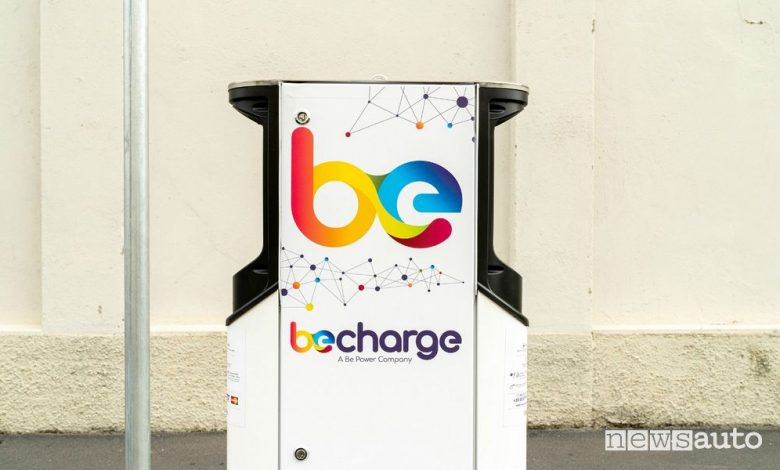 colonnine di ricarica per auto elettriche by Be Charge