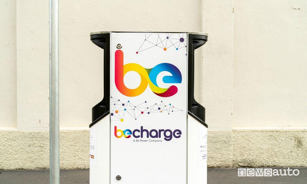 colonnine di ricarica per auto elettriche by Be Charge