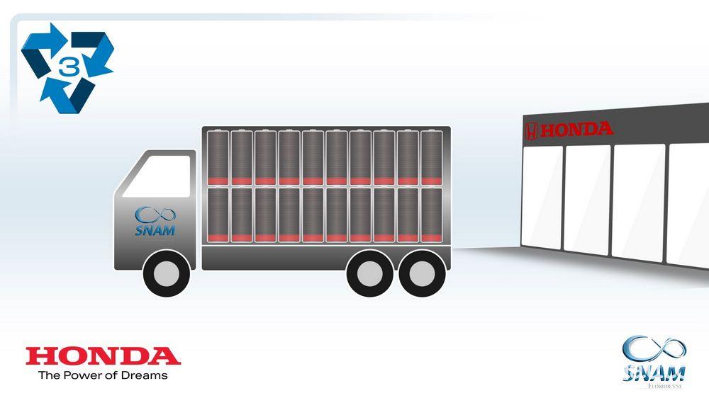 Le batterie al litio usate vengono raccolte presso i concessionari Honda