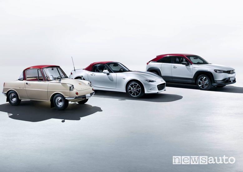 Mazda MX-5 e MX-30 EV nella serie speciale 100th Anniversary Special Edition