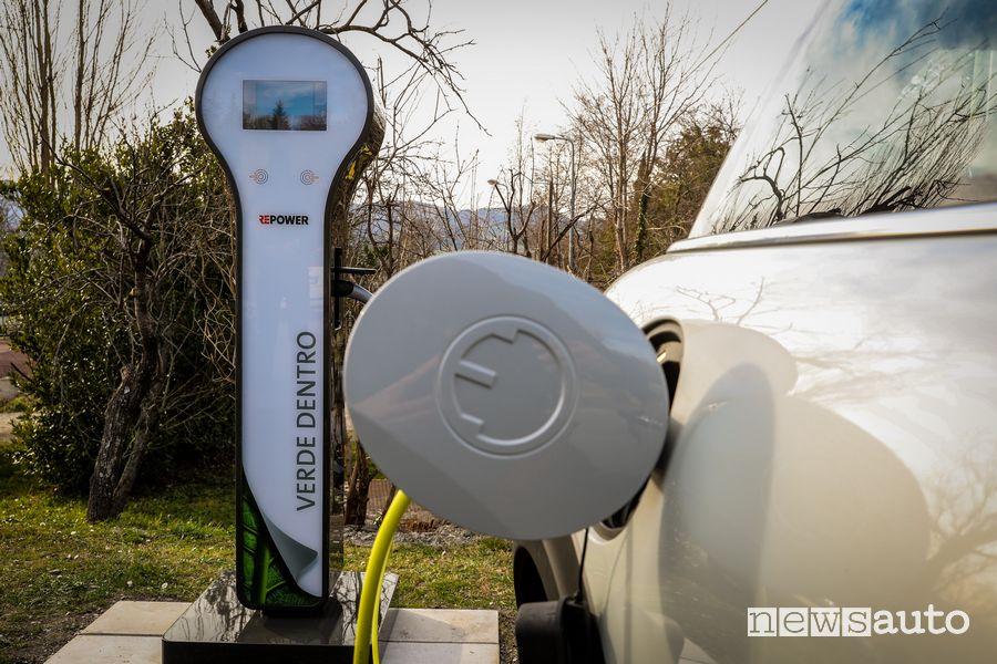 """Ricarica da colonnina RePower Mini Cooper SE elettrica """"Verde Dentro"""""""