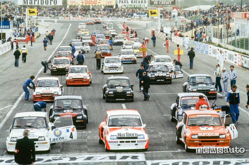 Renault 5 Turbo Coppa d'Europa 1983 sul circuito Le Castelet