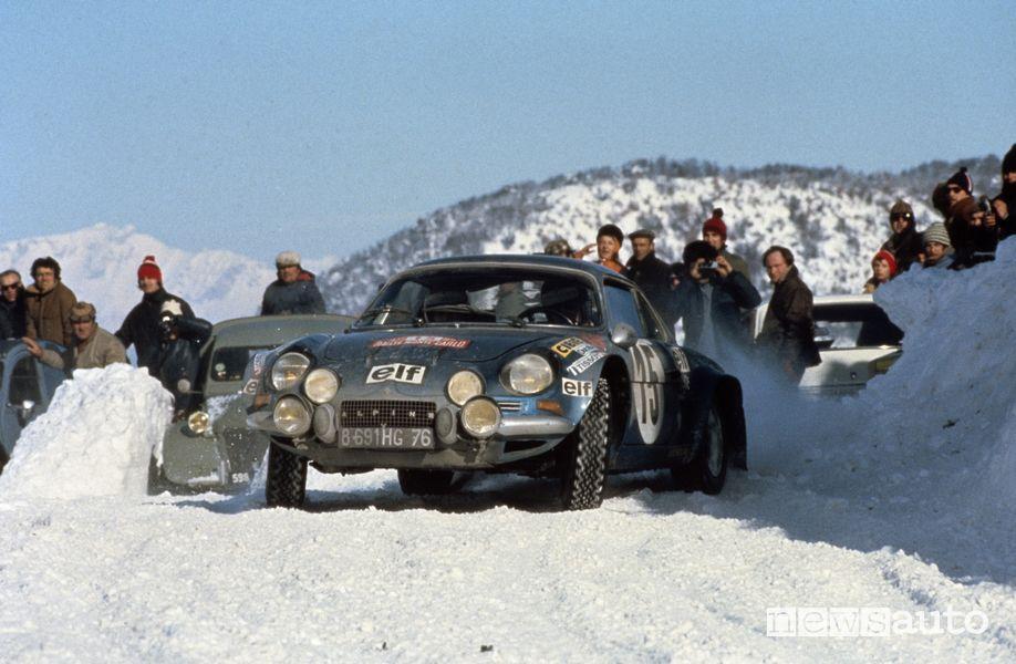 Alpine A110 al Rally di Montecarlo del 1973