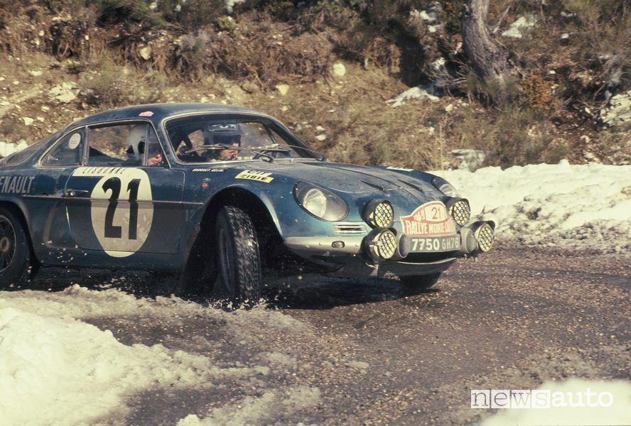 Alpine A110 rally al Rally di Montecarlo del 1969