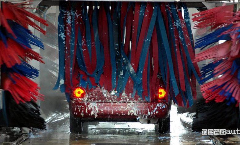 autolavaggio lavare auto