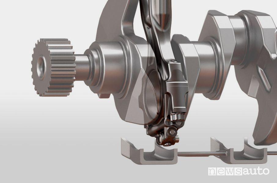 biella StepCom montaggio particolare collo su albero motore