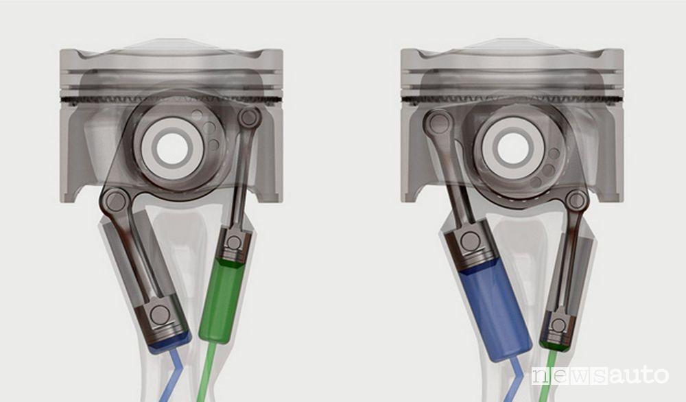 biella StepCom come funziona rapporto di compressione variabile con eccentrico sulla testa