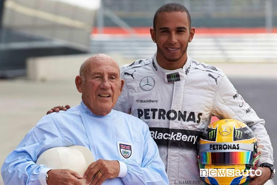 Stirling Moss e Lewis Hamilton Silverstone GP