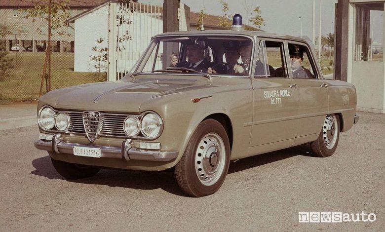 """Storia Alfa Romeo, """"Gazzelle"""" e """"Pantere"""" le auto dei Carabinieri e Polizia"""